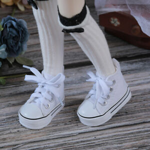 New White canvas shoes For 1/4 BJD Doll SD Doll