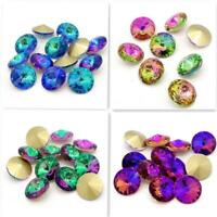 Fashion Jewelry Pointback Glass Crystal Fantasy Stones Colorful AB Rivoli Beads