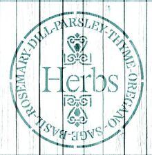 "Stencil, HERBS 8"" , ShabbyChic,fabric, furniture,diy, signs, kitchen"