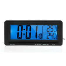DC 12V Digital LCD Car Truck In Out Clock Alarm Temperature Thermometer °C / °F