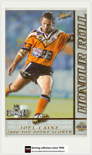 2001 Select NRL Impact Card Honor Roll HR3:JOEL CAINE TOP POINTSCORER 2000-Tiger