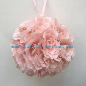 "10"" Flower Kissing Ball Wedding Silk Rose Party Pomander"