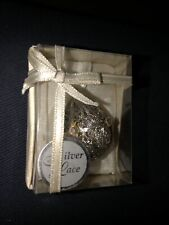 Nib Nos Silver Lake Filigree Christmas Tree Ornament: Egg Shaped