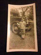 Vintage Photo Boy W/ Awesome Driving Goggles W/ Great 1930's Chevrolet