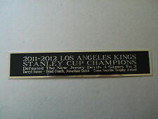 L.A. Kings 2011-2012 Stanley Cup Nameplate For A Hockey Case Or Photo 1.5 X 8