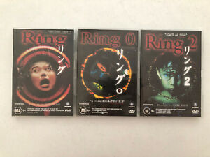 3 X Ring DVDs: Ring, Ring 0, Ring 2 Japanese Horror Movies