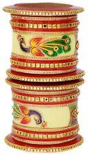 Indian Jewelry Bangles Set Multi Wedding Bridal Peacock Chura Bangles Bracelets