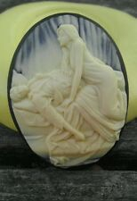 Sleeping Lover cameo silicone push mold mould polymer clay resin sugar craft
