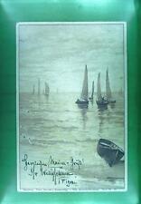 CPA Germany 1899 Nurnberg Schiffe Ship Boat Sail Nave Marine Statek Litho s59