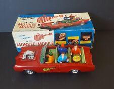 Monkee Mobile ASC Aoshin Japan Tin Car Battery Operated 1967 Rare Box Works!