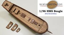 Wood Deck fits Revell 1/96 HMS Beagle from scaledecks.com