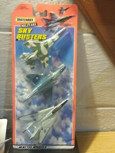 MATCHBOX SKY BUSTERS MILLITARY FIGHTER PLANES DIE CASTPLANED 3 PACK 1998 MATTEL