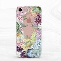 Watercolor Succulent Flower Floral Case For iPhone 6S 7 8 Xs XR 11 Pro Plus SE