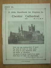 VINTAGE TOURIST GUIDE HANDBOOK CHESTER CATHEDRAL 1931