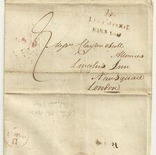 1802 Liverpool 3 / linea datato chilometraggio su wrapper-Londra arrivo V per 5 in data