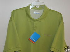 Columbia Sportswear PFG Perfect Cast Polo Shirt Omni-Shade Lime Green Size Med