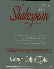 GEORGE COFFIN TAYLOR Essays of Shakespeare An Arrangement HB/DJ 1947