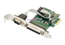 PCI-Express To Serial COM DB9 RS-232 + DB25 Printer LPT Port Controller Adapter