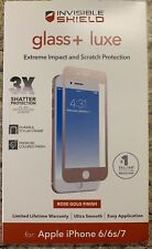 """NEW ZAGG Glass + Luxe Screen Protector for Apple iPhone 7 (4.7"""") ROSE GOLD"""