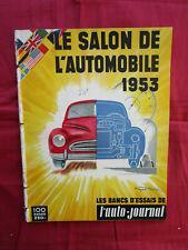L'AUTO-JOURNAL   N° SPECIAL SALON de l'automobile 1953