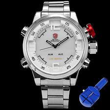 Original Gulper SHARK Digital Quartz Men Army Sport Watch + Band Adjuster Tool