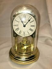 Vintage German Staiger Anniversary Clock Battery Operated Plastic Dome