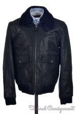 COACH Black Leather Shearling Collar BOMBER Jacket Coat F84862 NWT $1100 - SMALL