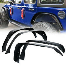 Xprite Flat Style 4pcs Fender Flares Kit Front & Rear for 18-20 Jeep Wrangler JL