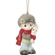 Precious Moments Dated 2020 Boy Ornament Every Bunny Loves A Christmas Hug New