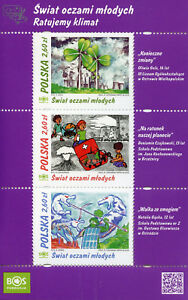 Poland 2018 MNH Through Eyes of Youth 3v M/S Children's Drawings Art Stamps