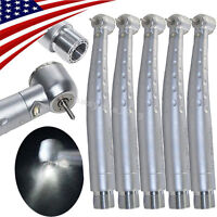 5X E-generator Dental High Speed LED Handpiece Push 3W 2 Hole Cartridge Fit KAVO