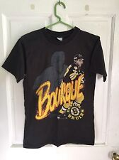 VINTAGE BOSTON BRUINS RAY BOURQUE 1990 SALEM SHIRT MEDIUM SIGNED PLEASE READ