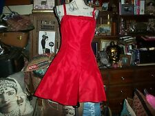 GEMMA KAHNG NEW YORK Chic Lady In Red Silk Dress Size 8