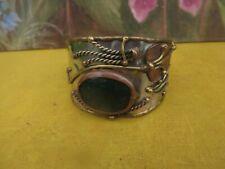 Handcrafted  Cuff Bangle Textured Hammered Artisan Copper / brass Aztec Bracelet