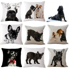 Bulldog Printed Cushion Cover Throw PilowCase Waist Sofa Bed Car Home Decor