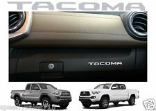 (2) Silver Glove Box VINYL Dashboard Letters Inserts 2016-2017 Toyota Tacoma New
