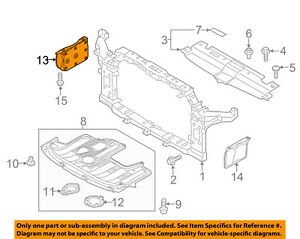 KIA OEM 14-16 Soul Radiator Core Support-Side Cover Right 29120B2000