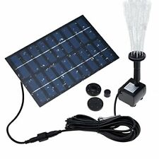 """COSSCCI 1.8W Solar Fountain Water Pump For Bird Bath Panel Kit Outdoor Small """""""