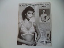advertising Pubblicità 1984 REGGISENO PLAYTEX CRISS CROSS