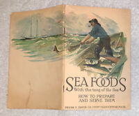"""Vintage 1920s Davis Fish """"Sea Foods w/ tang of the Sea"""" Book Advertising Booklet"""