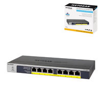 NETGEAR 8-Port Gigabit Ethernet PoE Network Switch (GS108PP) - Hub with 8 x PoE+
