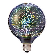 LED 3W Globe 125mm Glas mit 3D Sternen Effekt, warmweiß 3000K 40lm