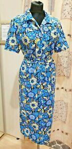 Damen Hausmantel Hauskleid Bademantel сарафан платье  халат из ситца