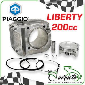 CILINDRO LIBERTY 200 PISTONE GRUPPO TERMICO ORIGINALE RST SPORT MODIFICA 125 150