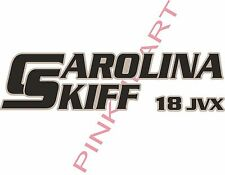 carolina 18 JVX 2 colors skiff Boat Decals Graphics Sticker Decal Stickers  USA