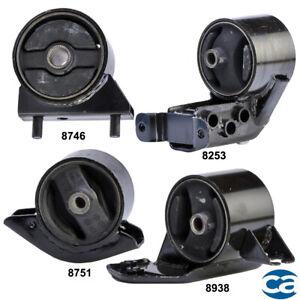 Engine Motor & Manual Trans. Mount 4PCs Set for Hyundai Accent 97-99 1.5L SOHC