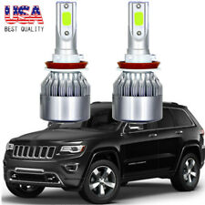 2x 8K LED Headlight Ice Blue Low Beam Bulb Kit for Jeep Grand Cherokee 2017-2018