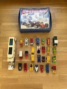 matchbox konvolut- 26 Fahrzeuge, inkl. Sammelkoffer