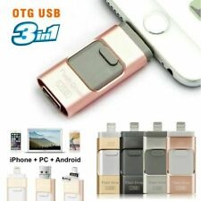 USB i Flash Drive 64 128 256GB OTG Disk Storage Memory Stick for iPhone Android
