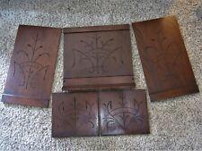 5 Spoon Carved Eastlake Panels Victorian Walnut? Furniture Parts Ornate Carvings